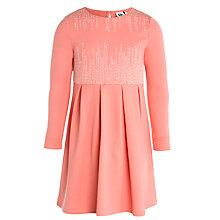 Buy Kin by John Lewis Embroidered Dress, Peach Online at johnlewis.com