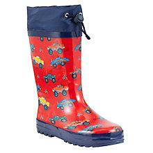 Buy John Lewis Monster Truck Print Wellington Boots, Red/Navy Online at johnlewis.com