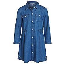 Buy John Lewis Girl Long Sleeve Denim Dress, Blue Online at johnlewis.com