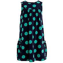 Buy John Lewis Girl Spot Corduroy Pinafore Dress, Navy/Green Online at johnlewis.com
