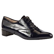 Buy Peter Kaiser Jundra Pointed Lace Up Shoes, Navy Patent Online at johnlewis.com