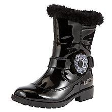Buy Lelli Kelly Childrens' Gwen Boots, Black Patent Online at johnlewis.com