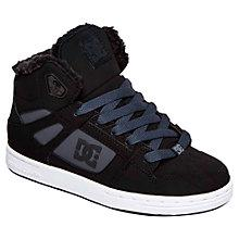 Buy DC Children's Rebound WNT Hi-Top Trainers, Black/Charcoal Online at johnlewis.com