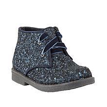 Buy John Lewis Childrens' Rebecca Glitter Desert Boots, Navy Online at johnlewis.com