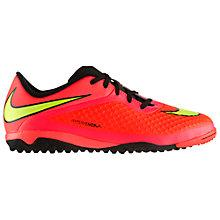 Buy Nike Children's Hypervenom Turf Football Boots, Red/Yellow Online at johnlewis.com
