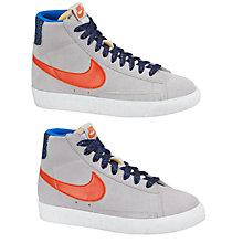 Buy Nike Blazer High Top Trainers, Grey Online at johnlewis.com