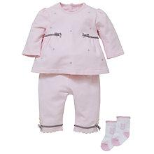 Buy Emile et Rose Baby Delta Top, Trousers Set & Plush Toy, Pink Online at johnlewis.com