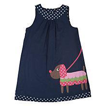 Buy Frugi Girls' Hannah Reversible Dog Dress, Navy Online at johnlewis.com