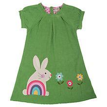 Buy Frugi Girls' Rabbit Chloe Dress, Green Online at johnlewis.com