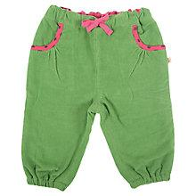 Buy Frugi Baby's Phoebe Corduroy Trousers, Green Online at johnlewis.com