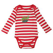 Buy Frugi Baby Barney Grasshopper Bodysuit, Red/White Online at johnlewis.com