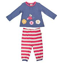 Buy Frugi Baby Ladybird Molly Top and Trousers, Multi Online at johnlewis.com