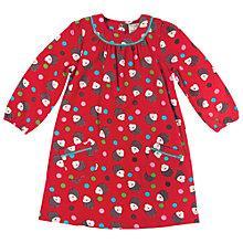 Buy Frugi Baby Hedgehog Bella Dress, Red Online at johnlewis.com