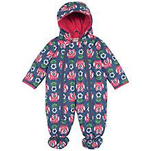 Buy Frugi Baby Billie Owl Snowsuit, Purple/Multi Online at johnlewis.com