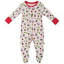 Buy Frugi Baby Lovely Babygrow, White/Multi Online at johnlewis.com