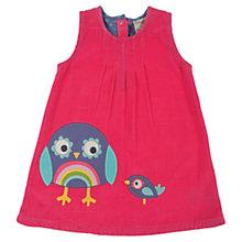Buy Frugi Baby Owl Corduroy Alice Dress, Pink Online at johnlewis.com