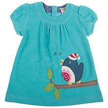 Buy Frugi Baby Chloe Corduroy Robin Dress, Blue Online at johnlewis.com
