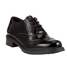 Buy John Lewis Designed for Comfort Secretary Patent Brogue Shoes Online at johnlewis.com