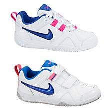 Buy Nike Childrens' Lykin 11 Trainers, White/Pink Online at johnlewis.com
