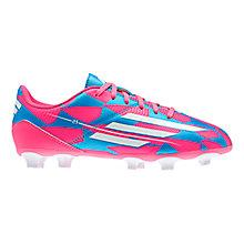 Buy Adidas Children's F5 Football Boots, Pink/Blue Online at johnlewis.com