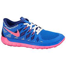Buy Nike Free Run Trainers, Blue/Pink Online at johnlewis.com