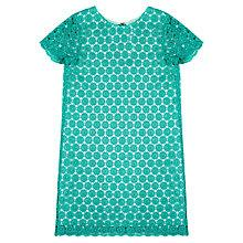 Buy Jigsaw Junior Girls' Daisy Crochet Dress, Emerald Green Online at johnlewis.com