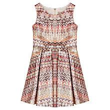 Buy Jigsaw Junior Girls' Shimmer Geo Print Dress, Multi Online at johnlewis.com