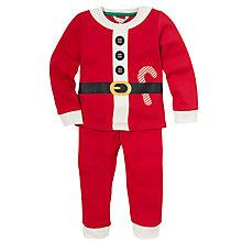 Buy John Lewis Baby Santa Pyjamas, Red Online at johnlewis.com