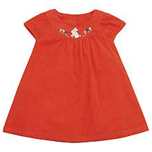 Buy John Lewis Corduroy Embroidered Rabbit Pinafore, Orange Online at johnlewis.com