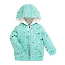 Buy John Lewis Lined Horse Hoodie, Green Online at johnlewis.com