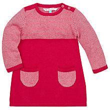 Buy John Lewis Stripe Knit Dress, Red/White Online at johnlewis.com