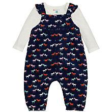 Buy John Lewis Horse Dungaree & Jersey Set, Navy/Cream Online at johnlewis.com