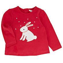 Buy John Lewis Rabbit Long Sleeve T-Shirt, Pink Online at johnlewis.com