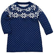 Buy John Lewis Snowflake Knitted Dress, Blue Online at johnlewis.com