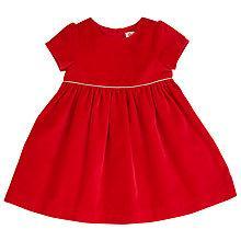 Buy John Lewis Velvet Dress, Red Online at johnlewis.com