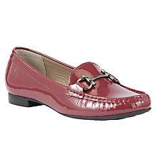 Buy John Lewis Austin Patent Low Heeled Loafers, Bordo Online at johnlewis.com