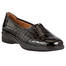 Buy Gabor Alice Patent Croc Effect Leather Loafers, Black Croc Online at johnlewis.com