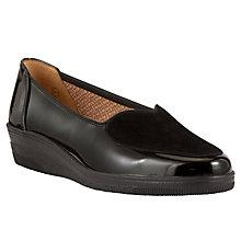Buy Gabor Blanche Patent Leather Pumps, Black Online at johnlewis.com