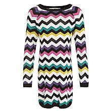 Buy John Lewis Girl Zig Zag Stripe Long Sleeve Dress, Multi Online at johnlewis.com