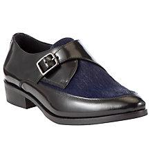 Buy Somerset by Alice Temperley Danver Buckle Leather Point Shoes, Black/Blue Online at johnlewis.com