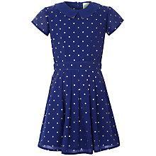 Buy Yumi Girl Starry Print Dress, Blue Online at johnlewis.com