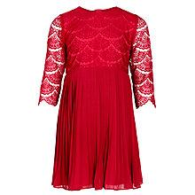 Buy John Lewis Girl Lace Party Dress, Red Online at johnlewis.com