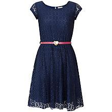 Buy Yumi Girl Lace Heart Belt Dress Online at johnlewis.com
