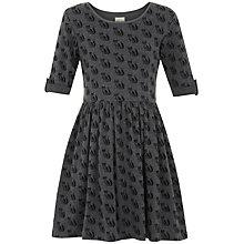 Buy Yumi Girl Repeat Fox Print Jersey Dress, Grey Online at johnlewis.com
