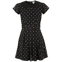Buy Yumi Girl Starry Print Dress, Black Online at johnlewis.com