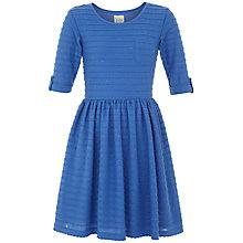 Buy Yumi Girl Textured Jersey Dress, Blue Online at johnlewis.com