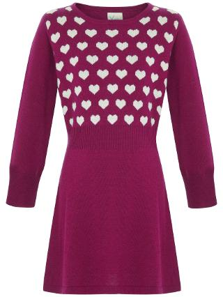 Buy Yumi Girl Repeat Heart Knit Dress Online at johnlewis.com