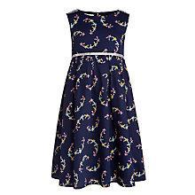 Buy John Lewis Girl Patterned Woven Dress, Blue Online at johnlewis.com