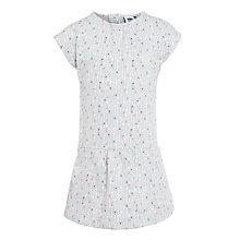Buy Kin by John Lewis Girls' Kinetic Drop Waist Spot Dress, Grey Online at johnlewis.com