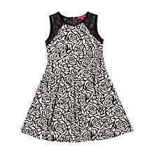 Buy Derhy Kids Girls' Marinella Floral Dress, Black/White Online at johnlewis.com